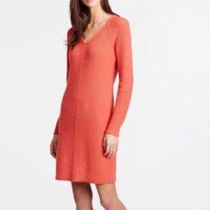 Ann Taylor Long Sleeve Sweater Dress